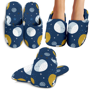 Cats and Moon Slippers