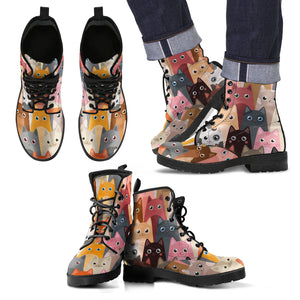 Cute Cats Leather Boots