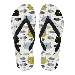 Cats and Fishes Flip Flops