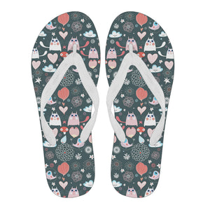 Lovely Cats Flip Flops