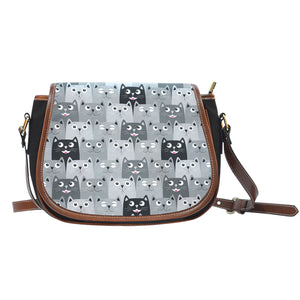 Cute Cats Canvas Saddle Bag