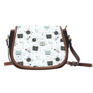 Space Cats Canvas Saddle Bag