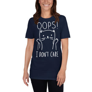 Funny I Don't Care Cat Unisex T-shirt