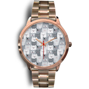 Funny Cats Rose Gold Watch