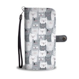 Funny Cats Wallet Case