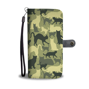 Cat Camouflage Wallet Case