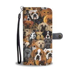 Cute Dogs Wallet Case