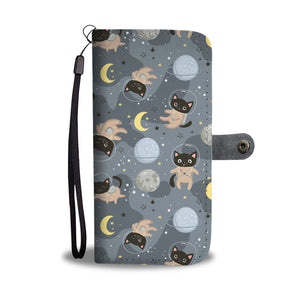 Cute Space Cats Wallet Case