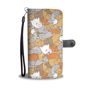 Cute Sleep Cats Wallet Case