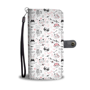 Fun Day Cats Wallet Case