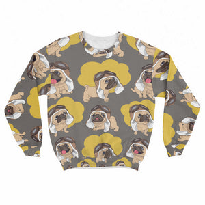 Pilot Pugs Crew Sweatshirt Limited Edition