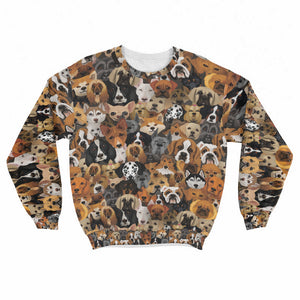 Cute Dogs Crew Sweatshirt Limited Edition