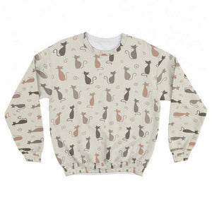 Cute Cats Crew Sweatshirt Limited Edition