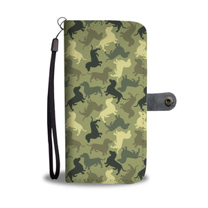 Dog Camouflage Wallet Case