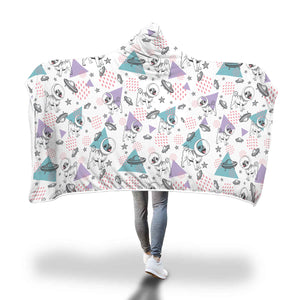 Space Pugs Hooded Blanket