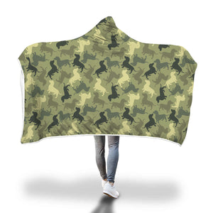 Dog Camouflage Hooded Blanket