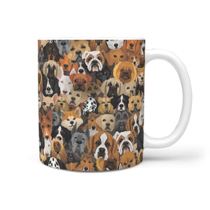 Cute Dogs 360 White Mug