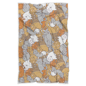 Sleep Cats Sherpa Blanket