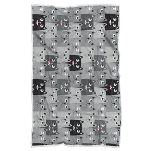 Cat Faces Sherpa Blanket