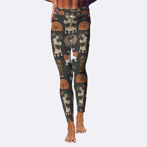 Cute Dogs Yoga Leggings