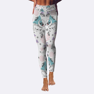 Space Pugs Yoga Leggings