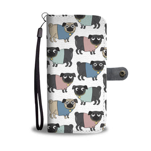 Funny Pug Wallet Case