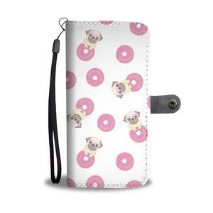Pug Donuts Wallet Case
