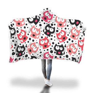 Funny Cats Hooded Blanket