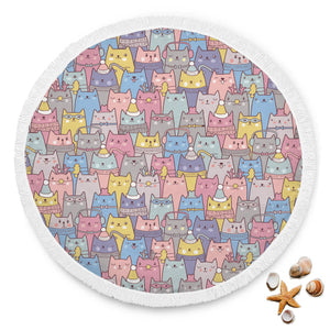 Cute Cats Beach Blanket