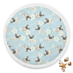 Lovely Pugs Beach Blanket