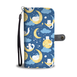 Cat Moon Wallet Case