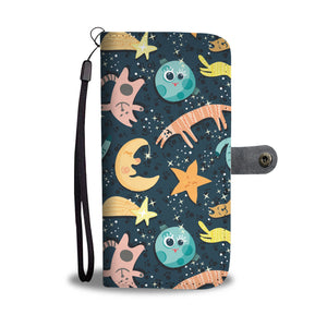 Cat Space Wallet Case