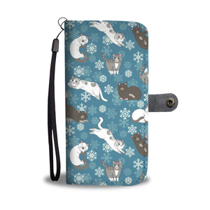 Cat Snow Wallet Case