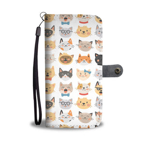 Cat Faces Wallet Case