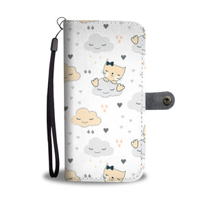 Cat Cloud Wallet Case