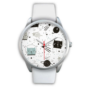 Space Cats Silver Watch