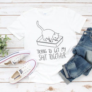 Funny Get My Shit Together Cat Unisex T-Shirt