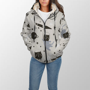 Space Cats Unisex Sherpa Hoodie