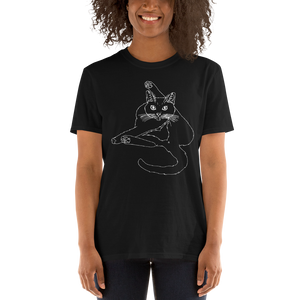 Funny Cat Licking Butt Unisex T-Shirt