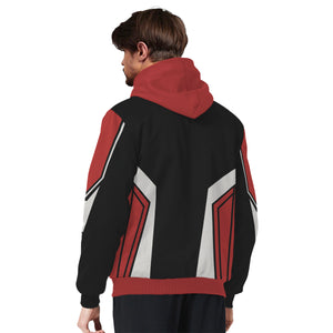 Red and Black Unisex Sherpa Hoodie