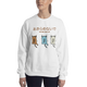 Cats Never Give Up Crew Sweatshirt