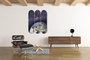 Earth and Space 3 Skateboard Wall Art