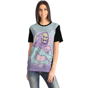 Cat and Death Unisex T-shirt All-Over