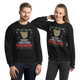Cute Cat Merry Christmas Crew Sweatshirt