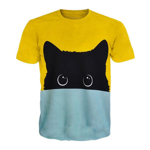 Black Cat Two Tone Shirts