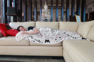 Fun Day Cat Sherpa Blanket