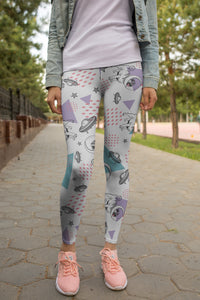 Space Pugs Fashion Leggings