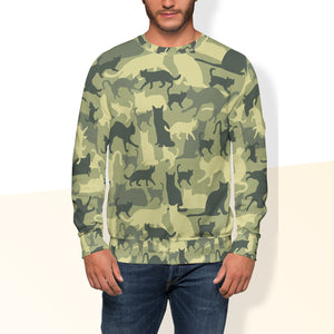 Cat Camouflage Crew Sweatshirt Limited Edition