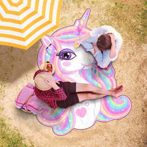 Beautiful Unicorn Beach Towel