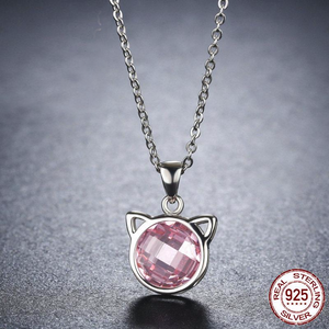 925 Sterling Silver Cute Cat Pendant Necklaces - Pets Lovers Store